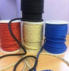 lacing cord plain colours