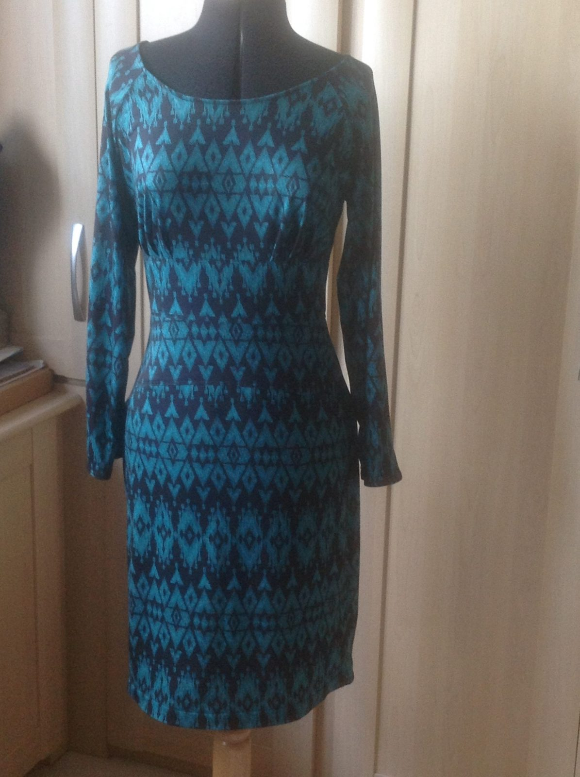 Jersey dress made with Jade Bonsai Fabric