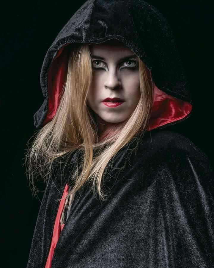 The Vampire made with fabrics
