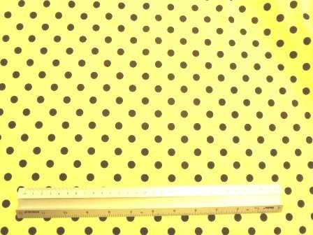 T-Shirting Fabric Lemon With Black Spot
