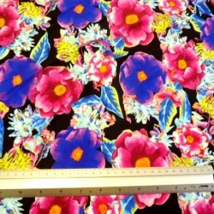 Lycra Fabric Flower Tropical Pansy