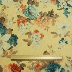 T-Shirting Fabric Floral Teal Tulip