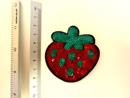strawberry sequin motif