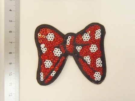 spotty bow sequin motif