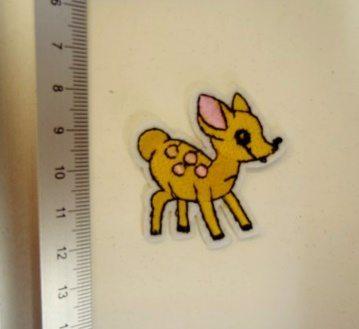 baby deer motif