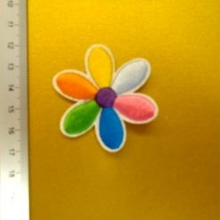 rainbow flower motif
