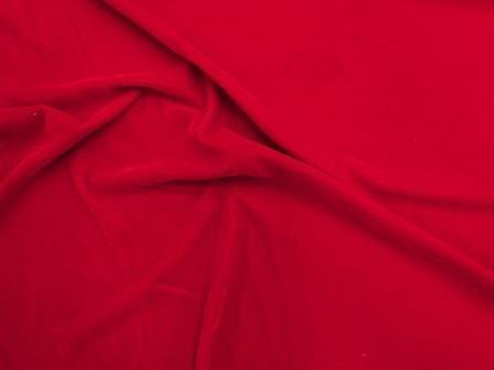 red Velvet Fabric Triple Woven