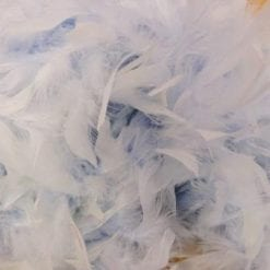 pale blue feather boa