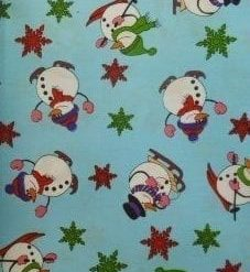 Christmas Snow Men Fabric