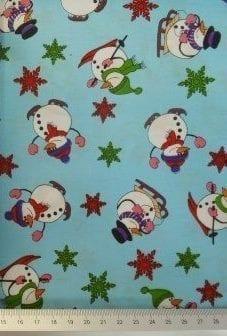 Christmas Snow Men Fabric