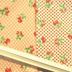 Printed Cotton Fabric Cherries