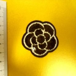 Rose Black Sequin Sew on Motifs
