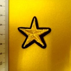 Star Gold Metallic Baby Sew on Motifs