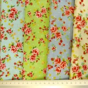 Floral Cotton Fabric Twee Garden Party