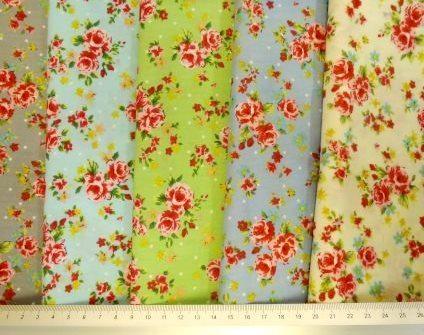 Floral Cotton Fabric Twee Garden Party