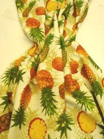 cream pineapples cotton