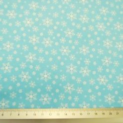 christmas snow flurry cotton blue