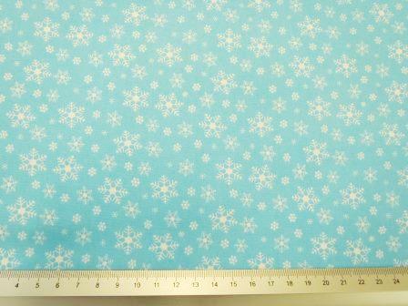 christmas snow flurry cotton blue