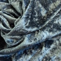 dark grey crushed velvet