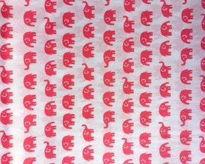 Tiny Elephants Cotton pink