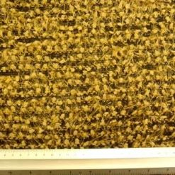 sticky toffee/black boucle knit suiting