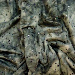 Lycra Fabric Tye Dye Hippi Hologram Sequin