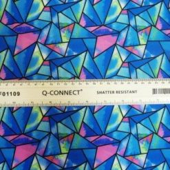 Lycra Fabric Magic Pyramid Blue