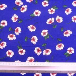 Viscose Fabric Sweet Pea Royal
