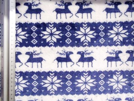 alpine stag winter fleece blue