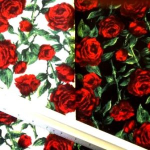 brushed cotton floral rosie roses