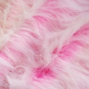 pink ice long hair faux fur