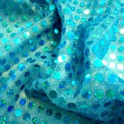 olo sequin spot 6mm lurex jersey turquoise