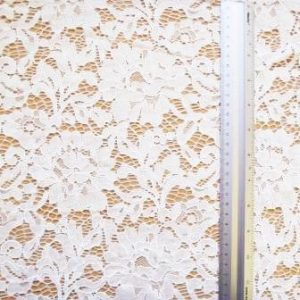 Lace Fabric Madeira Floral Ivory Sandlewood