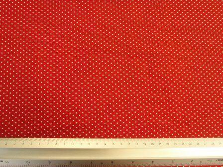 red lilliput spot cotton