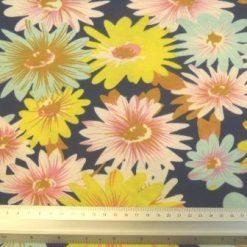 floral mix mint/navy