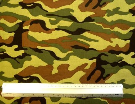 Viscose Fabric Print Camouflage Me