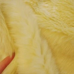 cream luxury fur