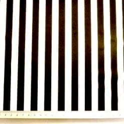 Polyester Cotton Fabric Striped Black and White