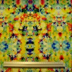 Lycra Patterned Fabric Hop Scotch Multi