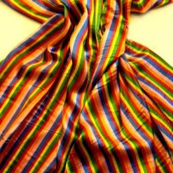 circus stripe printed satin