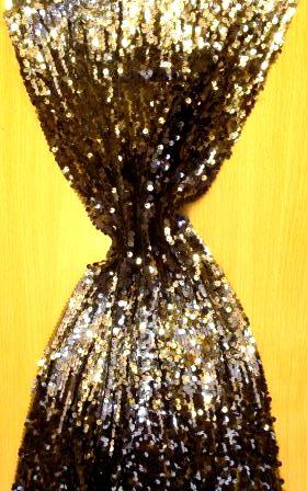 tye dye sequin on net black/silver