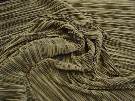 black Satin Fabric Crystal Pleated