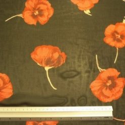 Chiffon Fabric Glorious Poppies