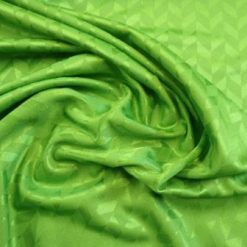 emerald chevron jersey satin