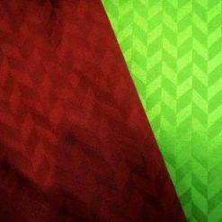 wine and emerald chevron jersey satin