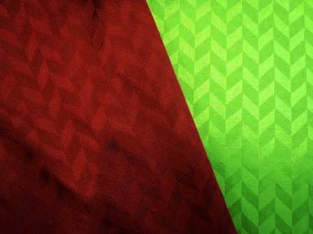 wine and emerald chevron jersey satin