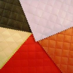 Quilted Fabric Faux Leather Lining