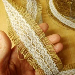 Hessian Lace Ribbon 5cm wide