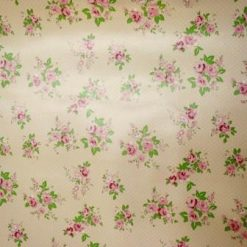 pink PVC Tabling Fabric Floral Heaven