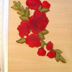 Rose Motif Sew on Rose Branch